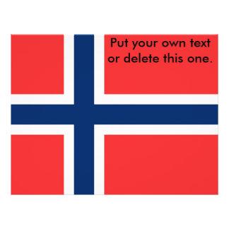 Aviador con la bandera de Noruega Folleto 21,6 X 28 Cm