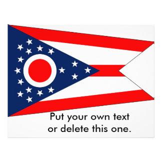 Aviador con la bandera de Ohio, los E.E.U.U. Tarjetas Publicitarias
