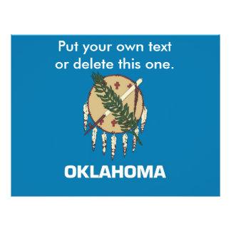 Aviador con la bandera de Oklahoma, los E.E.U.U. Flyer A Todo Color