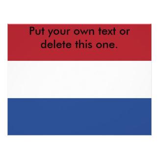 Aviador con la bandera de Países Bajos Tarjeta Publicitaria