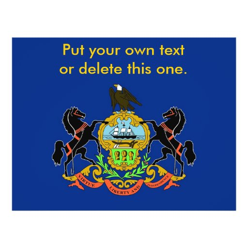 Aviador con la bandera de Pennsylvania, los E.E.U. Tarjeta Publicitaria