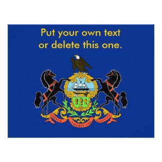 Aviador con la bandera de Pennsylvania, los E.E.U. Folleto 21,6 X 28 Cm