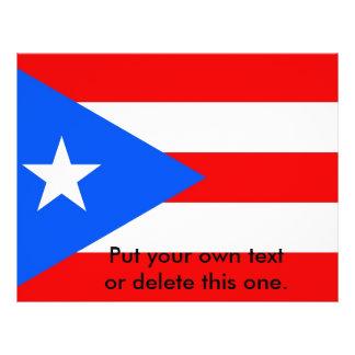 Aviador con la bandera de Puerto Rico, los Folleto 21,6 X 28 Cm