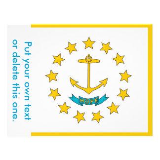 Aviador con la bandera de Rhode Island, los E.E.U. Tarjetas Informativas