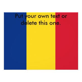 Aviador con la bandera de Rumania Tarjetones