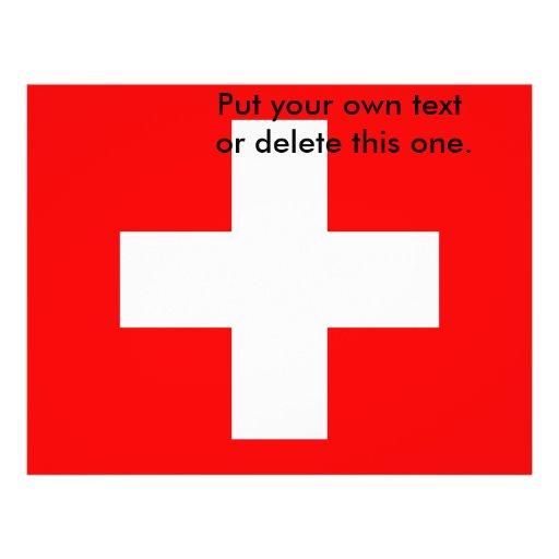 Aviador con la bandera de Suiza Tarjeta Publicitaria
