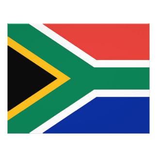 Aviador con la bandera de Suráfrica Tarjetón
