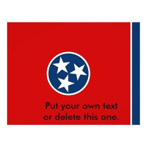 Aviador con la bandera de Tennessee, los E.E.U.U. Tarjetas Publicitarias