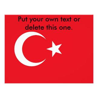 Aviador con la bandera de Turquía Flyer Personalizado