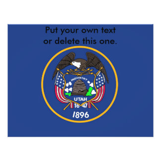 Aviador con la bandera de Utah, los E.E.U.U. Folleto 21,6 X 28 Cm