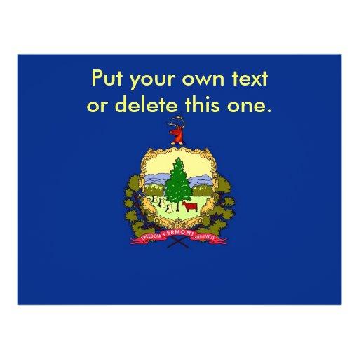 Aviador con la bandera de Vermont, los E.E.U.U. Tarjetas Informativas
