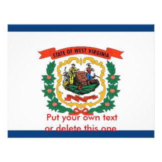 Aviador con la bandera de Virginia Occidental, los Tarjeton
