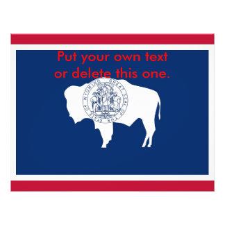 Aviador con la bandera de Wyoming, los E.E.U.U. Folleto 21,6 X 28 Cm