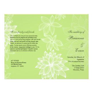 Aviador contorneado del programa del boda de la ca tarjetas informativas