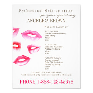 Aviador de la belleza y del maquillaje folleto 11,4 x 14,2 cm