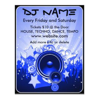 Aviador de la música del altavoz de DJ (azul) Flyer
