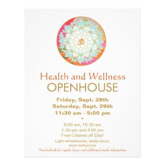 Aviador de la salud y de la salud de la mandala de folleto 21,6 x 28 cm