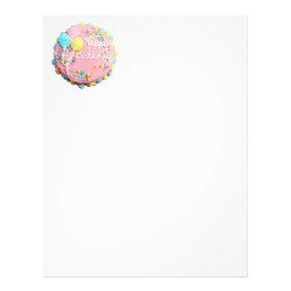 Aviador de la torta del feliz cumpleaños folleto 21,6 x 28 cm