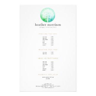 Aviador de la yoga y de la salud del árbol de la folleto 14 x 21,6 cm