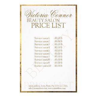 Aviador de lujo de la lista de precios de la folleto 14 x 21,6 cm