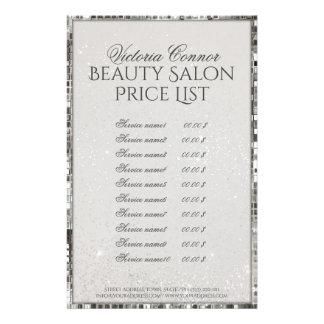Aviador de lujo de la lista de precios del salón folleto 14 x 21,6 cm