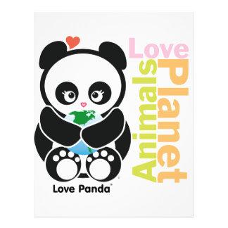 Aviador de Panda® del amor Tarjetones