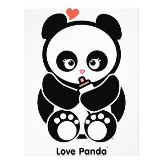 Aviador de Panda® del amor Tarjetas Informativas