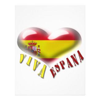 Aviador del corazón del escudo de armas de Viva Es Flyer A Todo Color