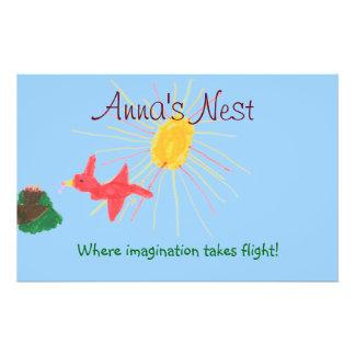 Aviador del cuidado de niños tarjeta publicitaria