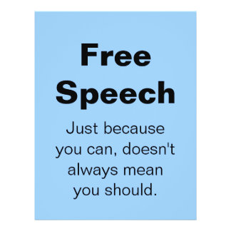 Aviador del discurso libre folleto 21,6 x 28 cm