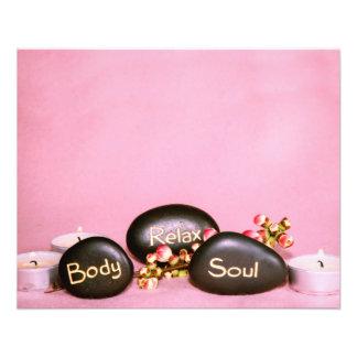 Aviador del masaje de la belleza de la salud del folleto 11,4 x 14,2 cm