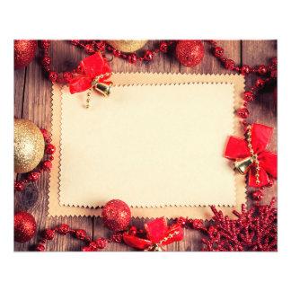 Aviador del navidad folleto 11,4 x 14,2 cm
