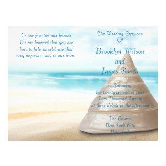 Aviador del programa de la ceremonia de boda de folleto 21,6 x 28 cm