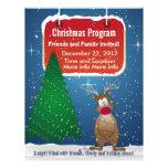 Aviador del programa del navidad del reno flyer a todo color