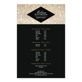 Aviador del salón del brillo y del encanto del oro folleto 14 x 21,6 cm