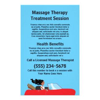 Aviador del terapeuta del masaje flyer personalizado
