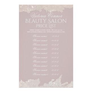 Aviador elegante del rosa de la lista de precios folleto 14 x 21,6 cm