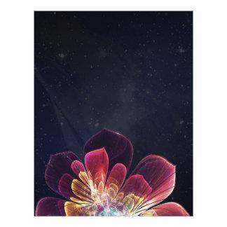 Aviador en blanco de encargo de la flor el | del flyer