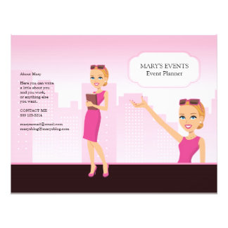 Aviador ilustrado femenino - revelado (usted doble folleto 21,6 x 28 cm