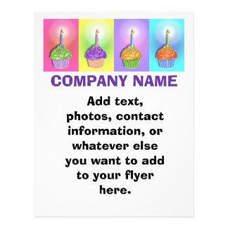 Aviador - magdalenas del cumpleaños folleto 21,6 x 28 cm