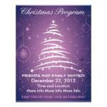 Aviador púrpura del programa del navidad del árbol tarjeta publicitaria