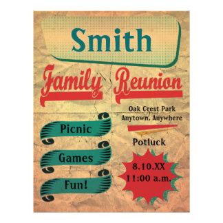 Aviador retro de la reunión de familia del vintage folleto 21,6 x 28 cm