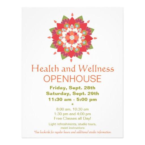 Aviador rojo colorido 2 de la salud y de la salud  tarjetas informativas