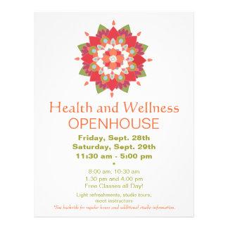 Aviador rojo colorido 2 de la salud y de la salud folleto 21,6 x 28 cm