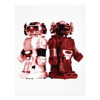 aviador rojo de los robots folleto 21,6 x 28 cm