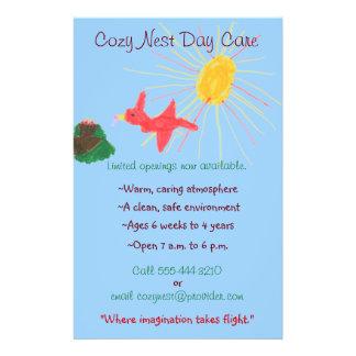 Aviador temático del cuidado de niños de la jerarq folleto 14 x 21,6 cm