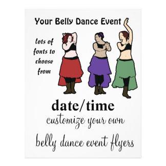 Aviadores del acontecimiento de la danza de vientr flyer personalizado