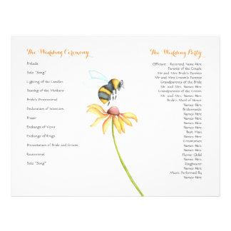 Aviadores del programa del boda de la acuarela de folleto 21,6 x 28 cm