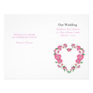 Aviadores florales del programa del boda del marco tarjeta publicitaria