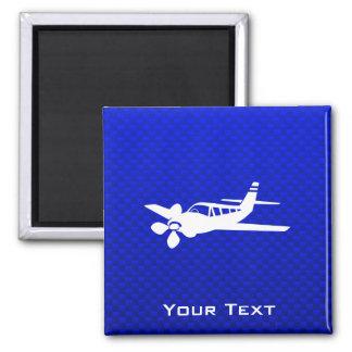 Avión azul imán de frigorifico